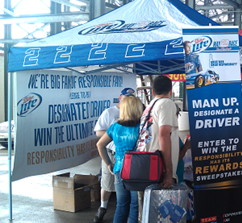 NASCAR Fans at Talladega Superspeedway make the pledge to be a designated driver.