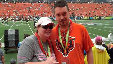 Coleen Peppin, the Designated Driver for the Season for the Chicago Bears enjoys the 2014 Pro Bowl