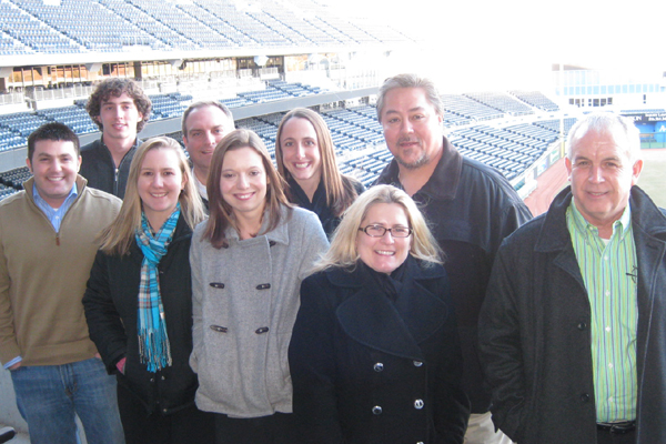Kansas City IDP attendees bundled up to unwillingly smile for the camera.