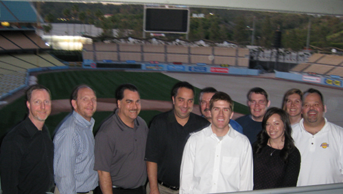 Dodger Stadium at dusk isn't such a bad place to be, even if you are there for a TEAM training workshop!