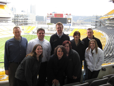 The best ketchup in the world frames TEAM IDP participants at Heinz Field