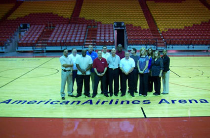 TEAM IDP participants take in the architecturally reknowned AmericanAirlines Arena