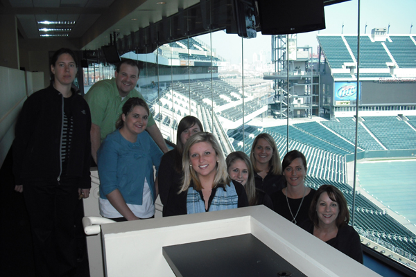 TEAM IDP participants overlook the field at Lincoln Financial Field
