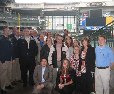TEAM IDP participants at Miller Park