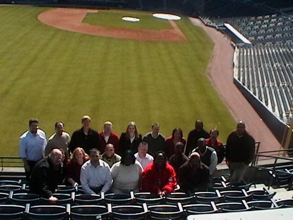 TEAM IDP participants pose in the stands at Turner Field