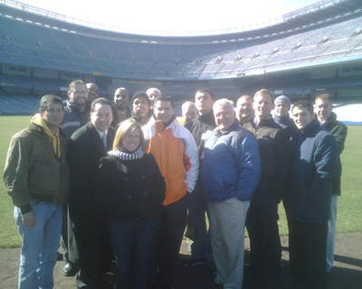 TEAM IDP participants take in Yankee Stadium before its final season