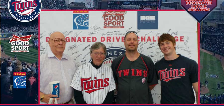 Responsible Minnesota Twins Fans Rewarded at Budweiser Good Sport Designated Driver Challenge Rivalry Series