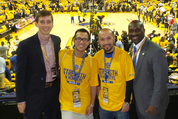 Golden State Warriors Designated Driver for the Season recognized at The Finals 2015 Game 1
