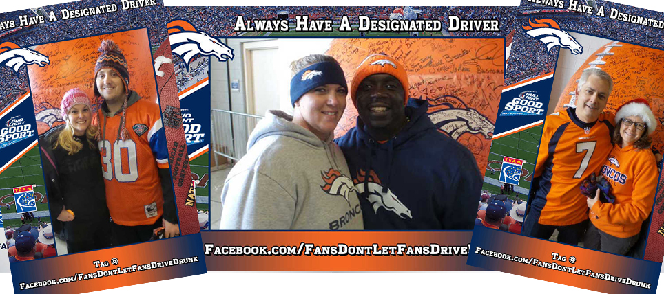 Denver Broncos Fans Pledge to be Designated Drivers