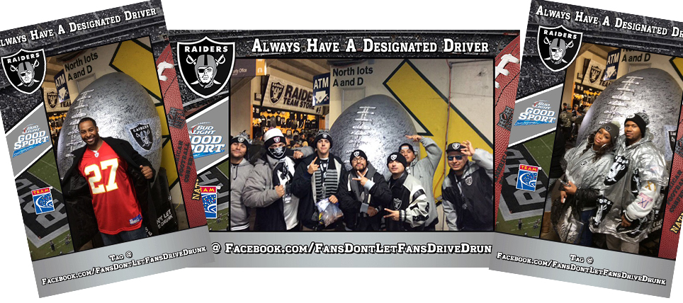 Oakland Raiders Fans Never Drive Drunk