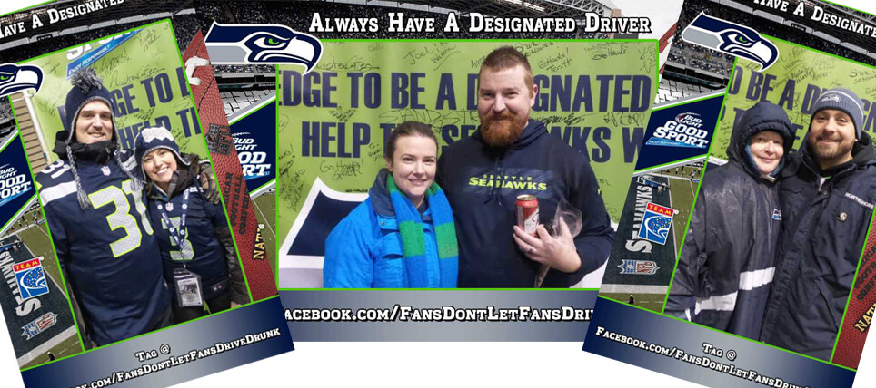 Seattle Seahawks Fans Don't Let Fans Drive Drunk