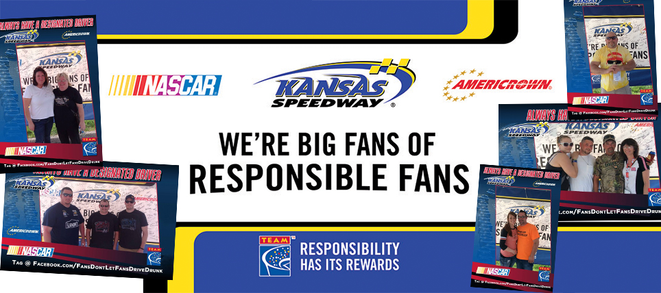 Responsible NASCAR Fans at Kansas Speedway