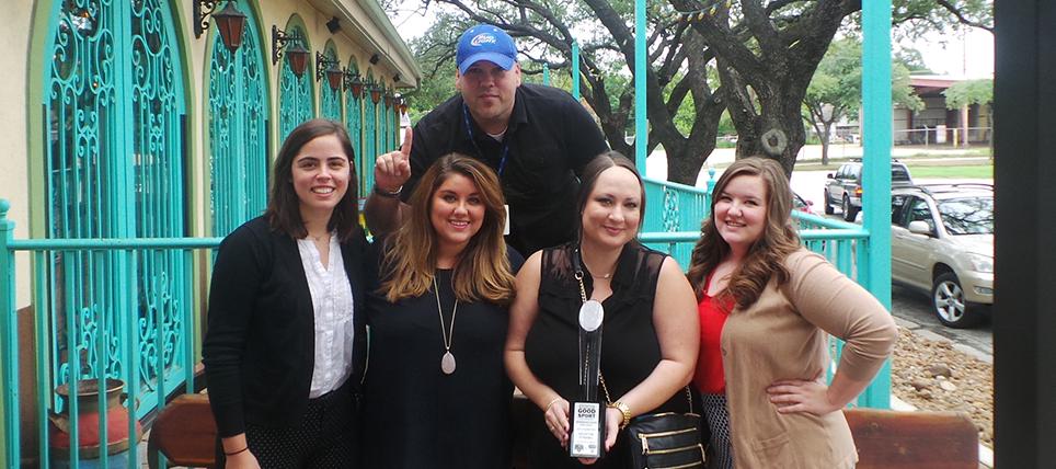 Houston Dynamo Celebrate 2015 Bud Light Good Sport Designated Driver Challenge Win