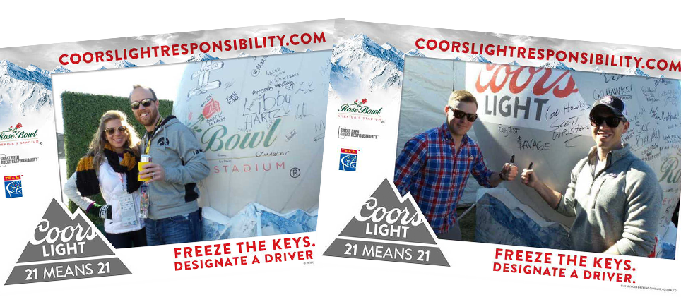 Coors Light and TEAM Promote Responsible Drinking at 2016 Rose Bowl