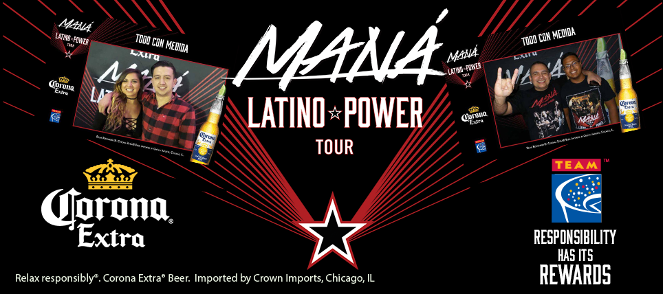Responsible Fans Rewarded on the Maná Latino Power Tour