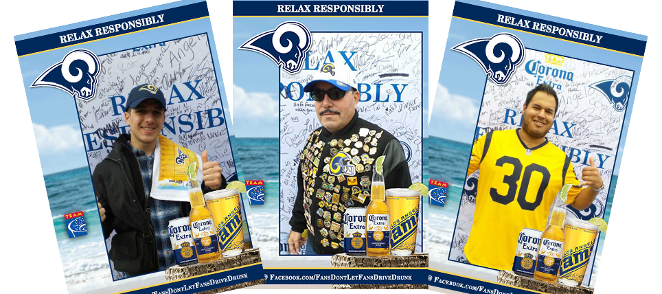 Responsible Fans Rewarded at the LA Rams game vs. Dolphins