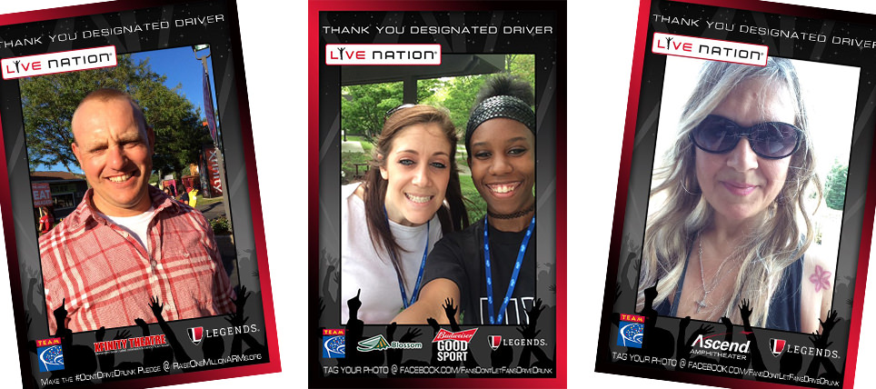 Live Nation Goes Digital with Designated Driver Programs at Seven Venues