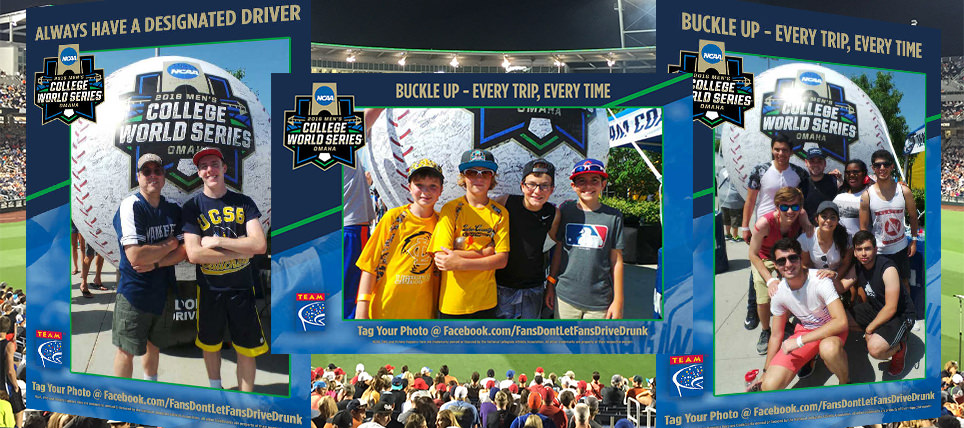 Responsible Fans at the 2016 NCAA Men's College World Series