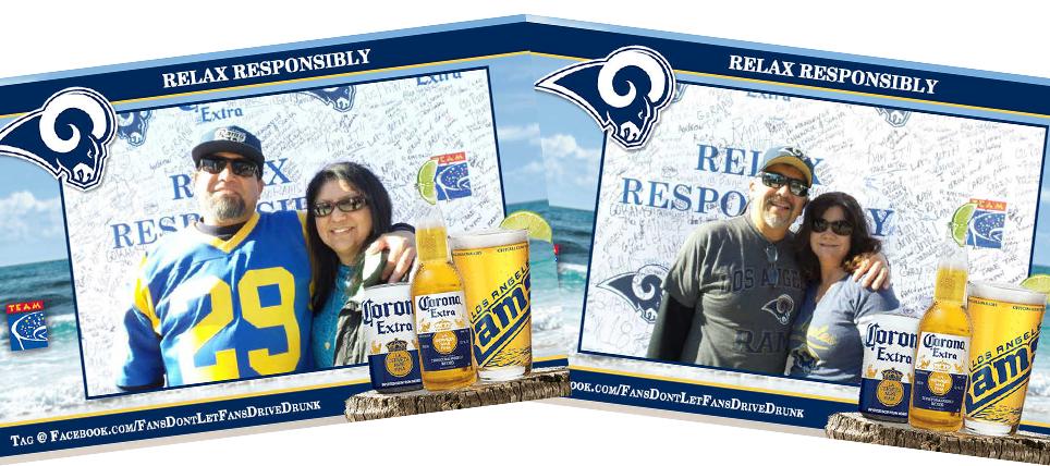 Responsible Fans Rewarded at the LA Rams game vs. Cardinals