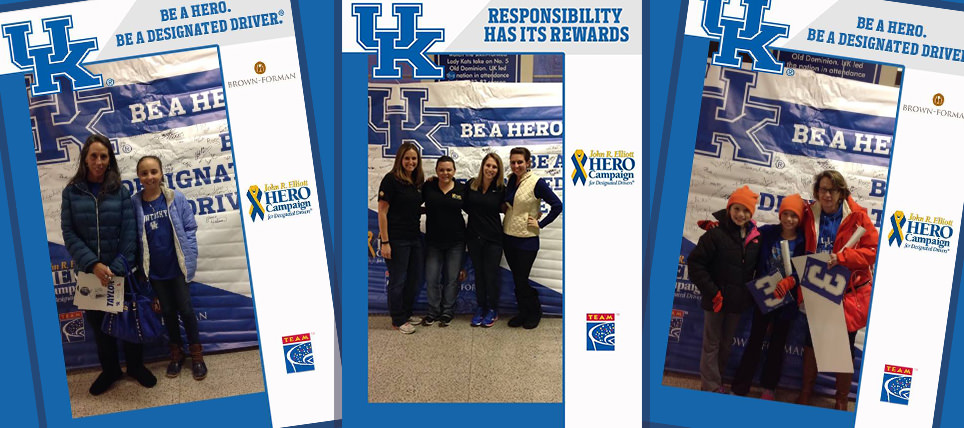 Brown-Forman, HERO Campaign and TEAM Promote Responsibility with Kentucky Women's Basketball