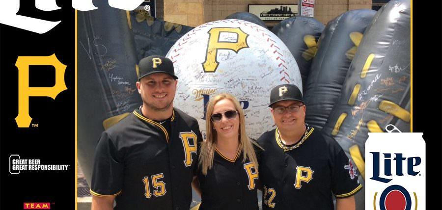 Pirates Fans Enjoy Miller Lite Responsibly