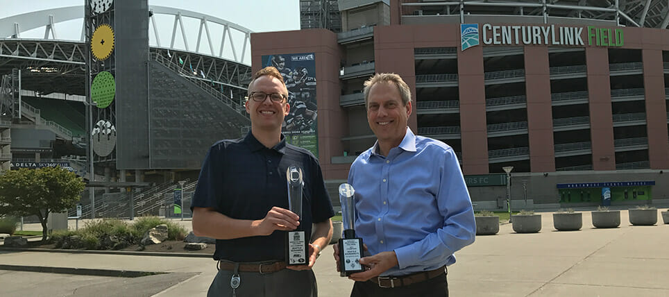 Seahawks and Sounders FC Celebrate 2016 Responsibility Challenge Wins