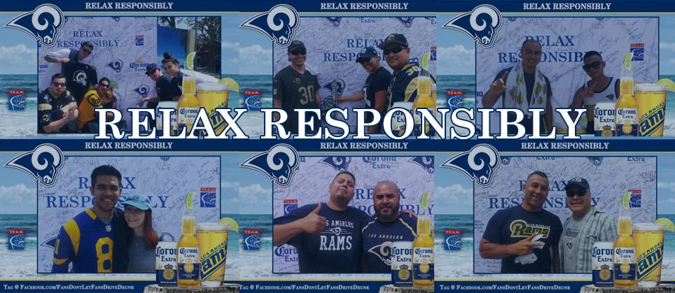 Rams, Corona Extra and TEAM Ask Fans To Relax Responsibly