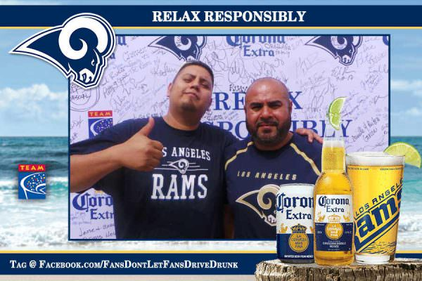 Corona Extra and TEAM Coalition Reward Rams Fans Who Relax