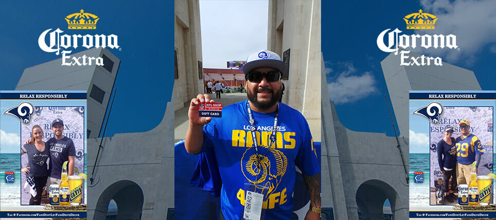 Corona Extra and TEAM Coalition Reward Rams Fans Who Relax Responsibly