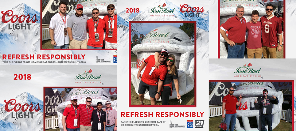 Coors Light and TEAM Promote Responsible Drinking at 2018 Rose Bowl