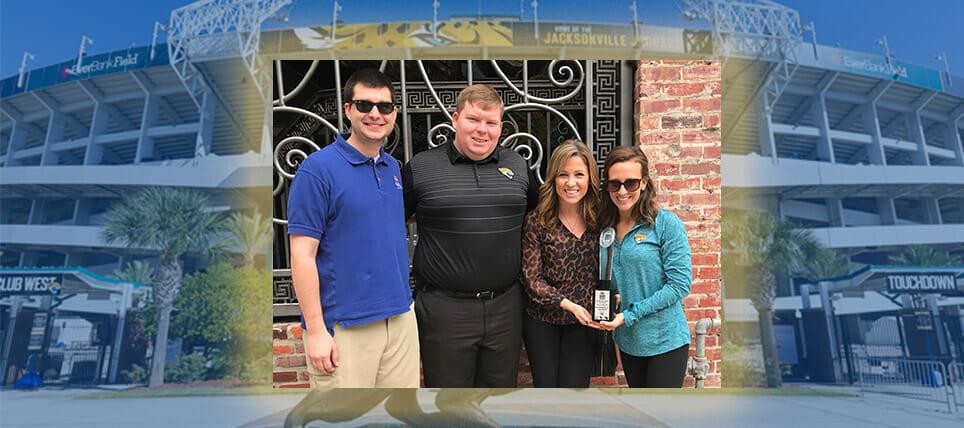 Jacksonville Jaguars Celebrate Win, 2016 Bud Light Good Sport Designated Driver Challenge