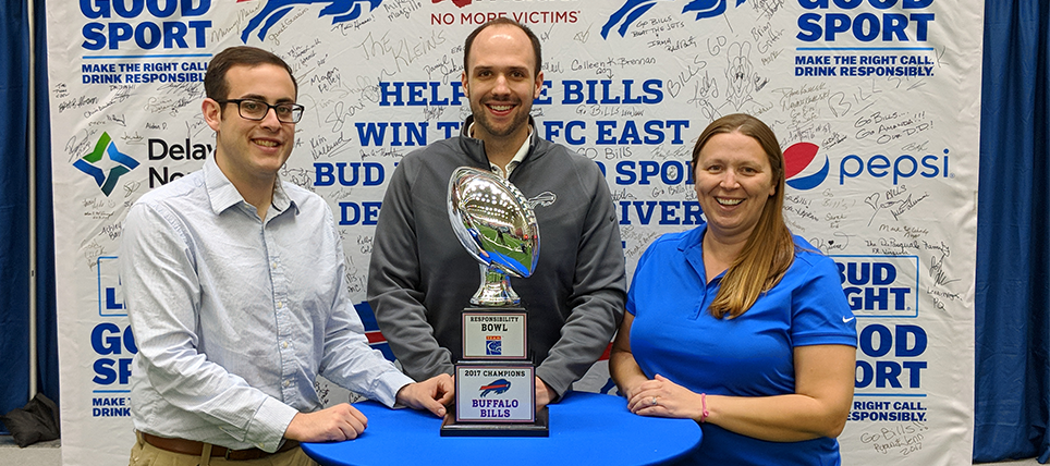 Buffalo Bills Celebrate Responsibility Bowl IV Win