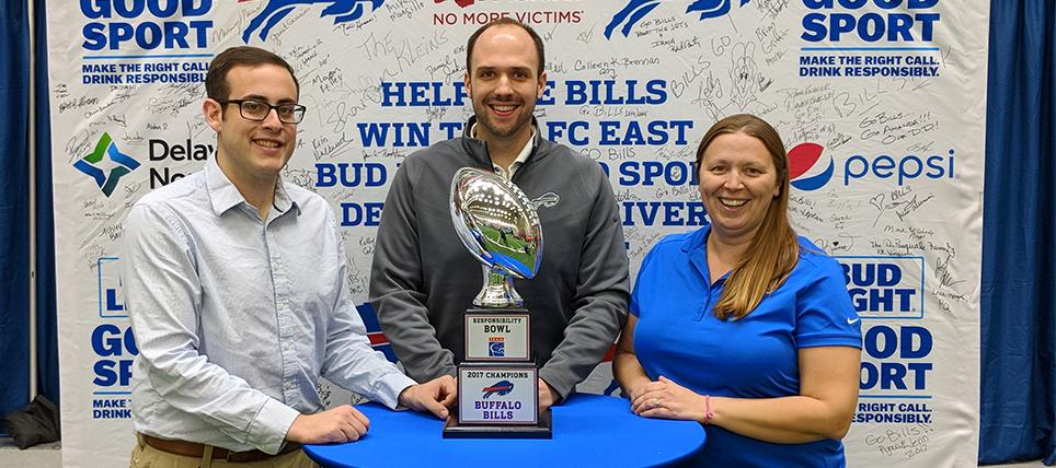 Buffalo Bills Celebrate Responsibility Bowl IV Win