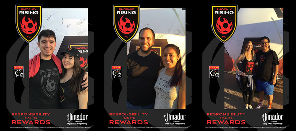 Phoenix Rising FC Supporters Enjoy 100% Responsibly with el Jimador