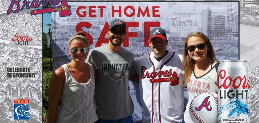Braves Fans Get Home Safe