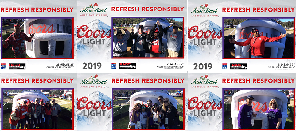 Coors Light, RADD and TEAM Promote Responsible Drinking at 2019 Rose Bowl