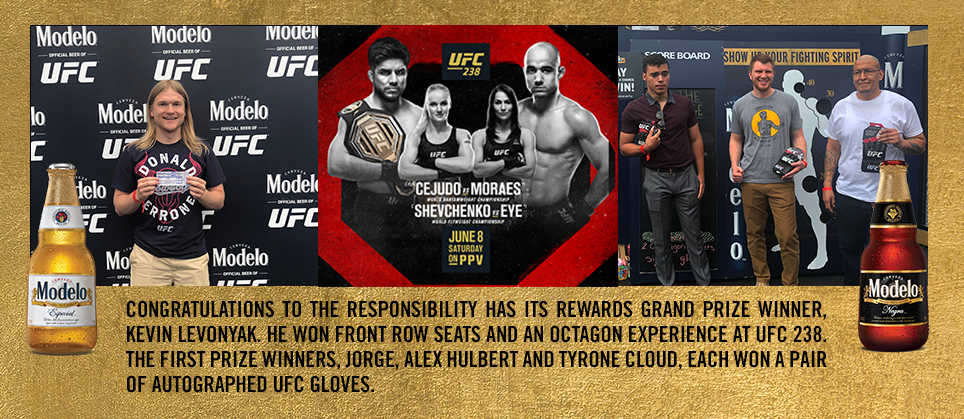 Modelo Especial and TEAM Coalition Reward Responsible Fans at UFC 238