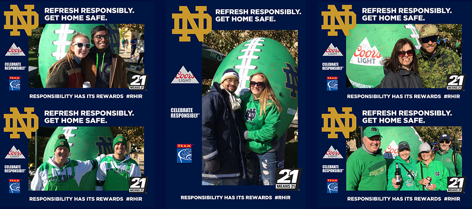 Coors Light, Notre Dame, and TEAM Promote Responsible Drinking at USC Game