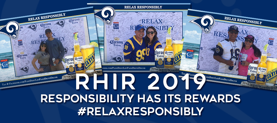 Pledge to Relax Responsibly Rewarded at Rams Game