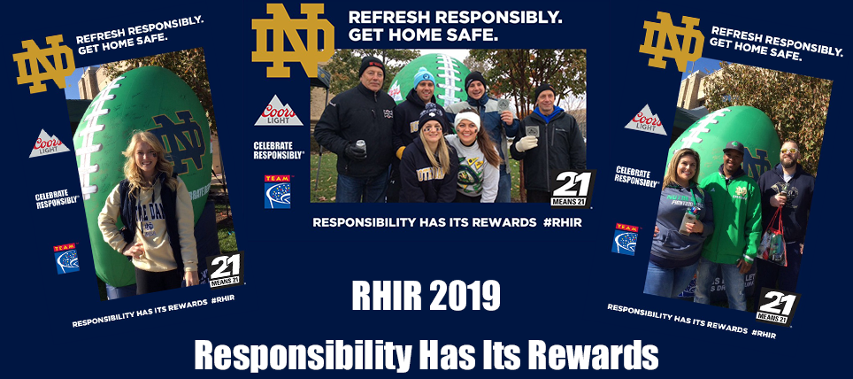 Notre Dame, Coors Light & TEAM Celebrate Responsibly