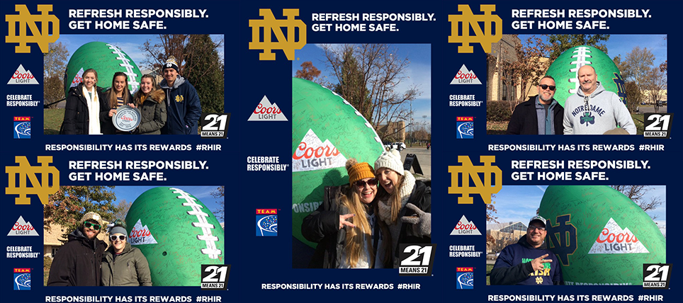 Coors Light, Notre Dame, and TEAM Promote Responsible Drinking at Navy Game