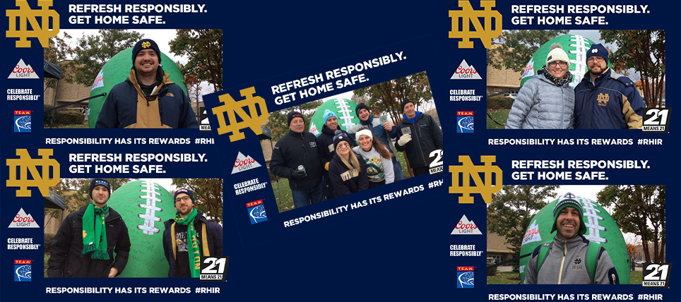 Coors Light, Notre Dame, and TEAM Promote Responsible Drinking at Virginia Tech Game