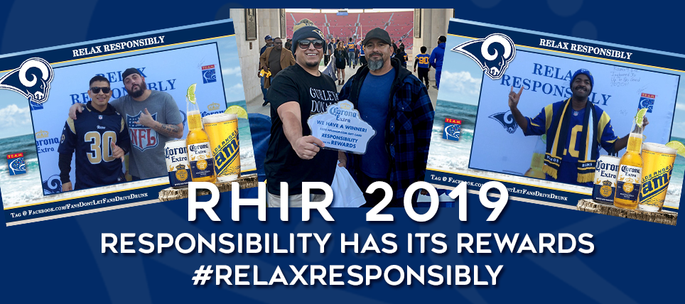 Rams Fans Rewarded for Pledge to Relax Responsibly
