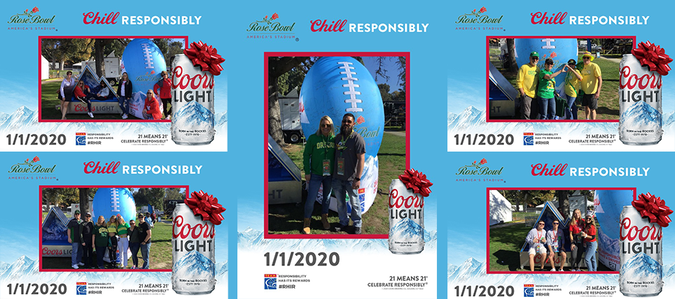 Coors Light and TEAM Promote Responsible Drinking at 2020 Rose Bowl