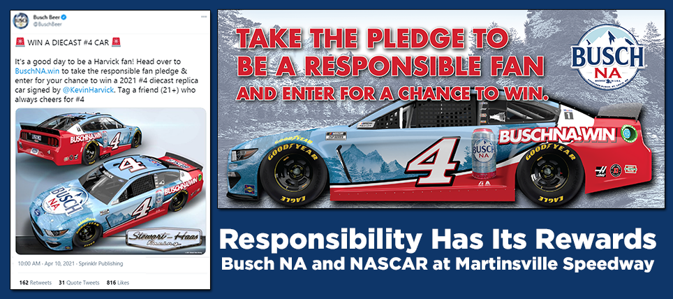 BEST PRACTICES ON DISPLAY: BUSCH NA RHIR SWEEPSTAKES